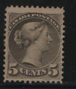 Canada, 38, NO GUM, THIN,  1870-89 Queen Victoria