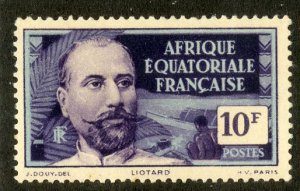 FRENCH EQUATORIAL AFRICA 71 MH SCV $3.25 BIN $1.45 PERSON