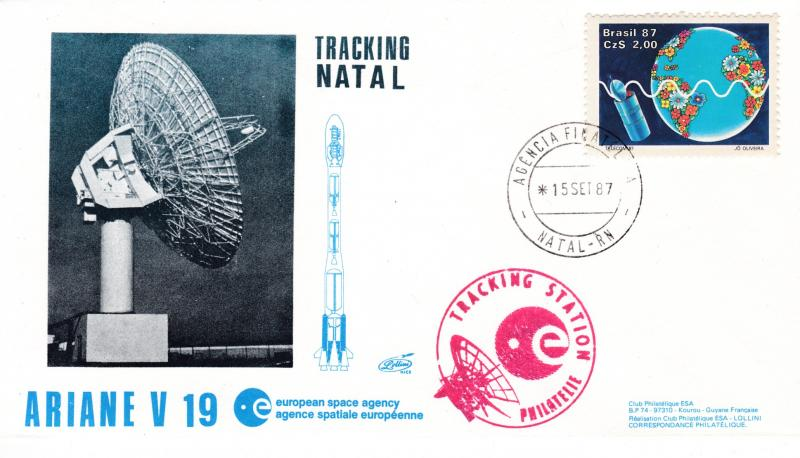 French Aerospace 1987 Lollini Catalogue 326. Natal tracking