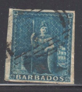 Barbados #6 USED Imperf