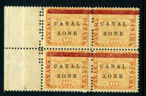Canal Zone Scott #13 Mint Block of 4 Stamps (Stock #CZ13-26)