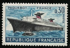 Maiden Voyage of Liner France, MNH **, 1962, PAQUEBOT, MC #1378  (T-6784)