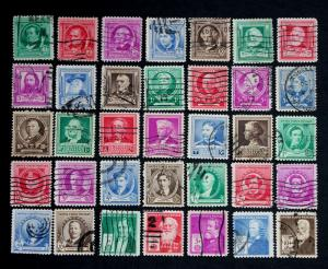 U.S. Stamp Sc# 859-93 Famous Americans Complete Used Set Sc# 859-893