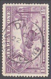 SIERRA LEONE 1951 GVI 1½d - DARU cds........................................7116