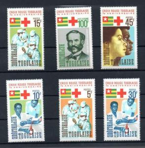 Togo 553-57, C51 Mint NH Red Cross SCV $4.45