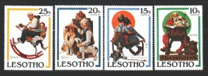 Lesotho. 1981. 349-52 from the series. Christmas dog illustrations. MNH.