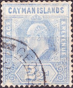 CAYMAN ISLANDS 1908 KEDVII 2½d Ultramarine SG27 Used