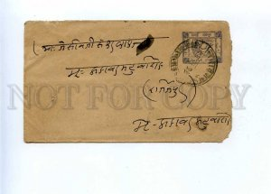 196301 INDIA JAIPUR 1932 year real posted stamped cover