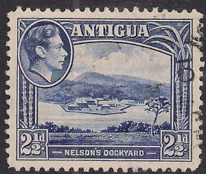 Antigua 1938 – 51 KGV1 2 1/2d Ultramarine SG 102 ( M73 )