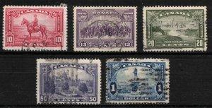 CANADA - 10c - $1 1935 Set Used SC223 - SC227