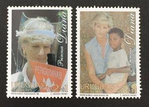 Uruguay 1998 #B10-11, Princess Diana, MNH.