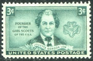 974 3c Founder of the Girl Scouts Mint NH OG  VF