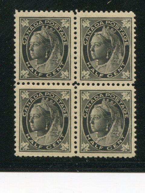 Canada #66 Block 4 Mint VF NH