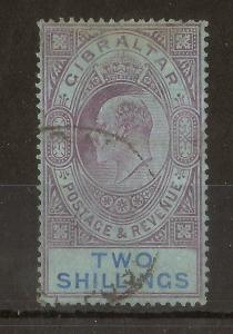 Gibraltar 1904 2/- SG62 Used Cat£140