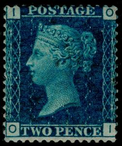 SG46, 2d blue PLATE 14, M MINT. Cat £500. OI