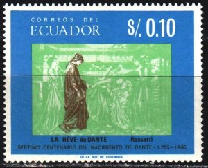 Ecuador. 1966. 1220 from the series. 700 years to the poet Dante. MNH.