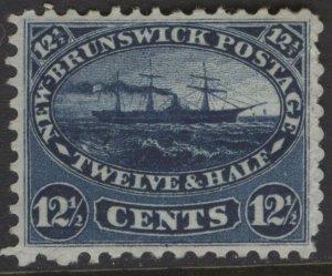NEW BRUNSWICK 10 1860 12 1/2c BLUE STEAMSHIP VF MPH CVIS$125