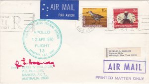 Cocos Islands Apollo Flight - Tracking Station Cover, signed by Station Director
