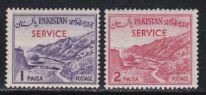Pakistan # O76a & O77a, Mint NH