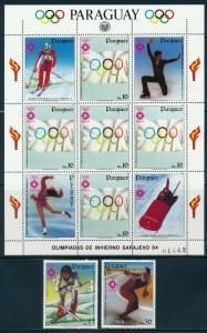 Paraguay - Sarajevo Olympic Games MNH Sports Set C554-6 (1984)
