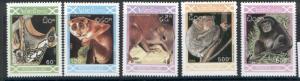 Laos 1118-22 MNH Animals