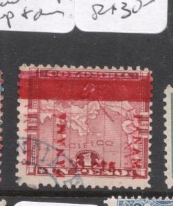 Panama SC 183 Double Overprint Up & Down VFU (8dhh)