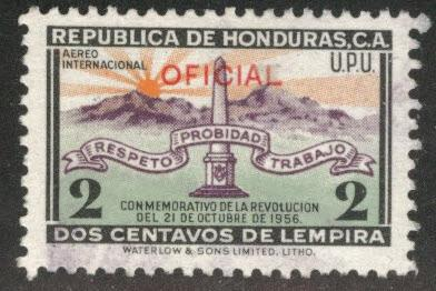 Honduras  Scott Co89 Used official airmail