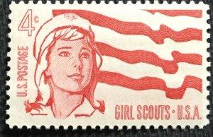 US #1199 MNH Single Girl Scouts SCV $.25