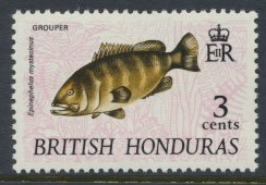 British Honduras SG 277d SC # 237 MLH  Grouper - with watermark 1972  see scans