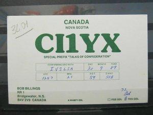4138 QSL Card Nova Scotia Canada 1989