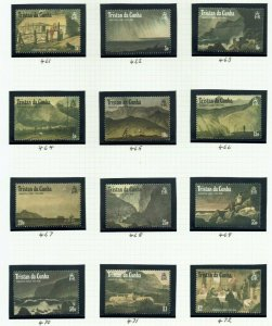 Tristan da Cunha: 1988, Augustus Earle Paintings, definitive set,   MNH