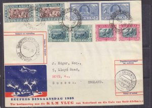 NETHERLANDS, 1938 Voortrekker Monument Special Flight & Return cover.