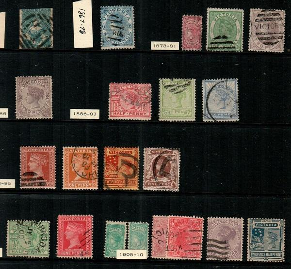 Victoria - small mostly used collection (read description) - CV $165.00