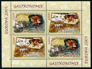 HERRICKSTAMP ROMANIA Sc.# 4730a Europa 2005 Stamp Souvenir Sheet