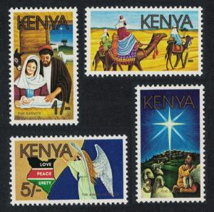 Kenya Camel Christmas 4v issue 1986 SG#399-402