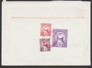 GB LUNDY 1981 cover  - Puffin stamps - .....................................F866