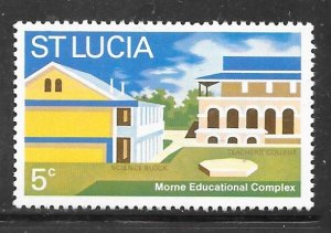 St Lucia 316: 5c Morne Educational Complex, MH, F-VF