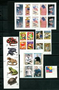 US 2003 Commemorative Year Set 66 stamps including 2 Sheets, Mint NH, see scans
