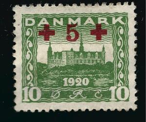 Denmark Nice SC B1  VF Mint OG hr  SCV $14.00... Fill a bargain spot!