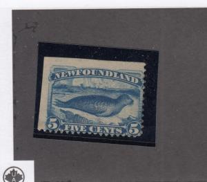 NEWFOUNDLAND # 54-55 VF-MH FINE-MH 5cts HARP SEALS CAT VALUE $190