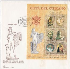 Vatican 1983 Vatican City Collections- The Papacy and Art Stamps Cover ref 22885