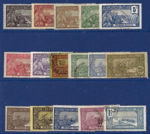 Guadeloupe 1905-27 16 Diff scv $9.50 Less 50%=$4.75 BIN