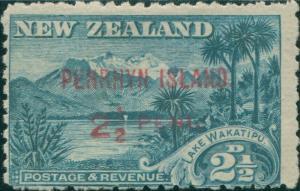 Cook Islands Penrhyn 1902 SG1 2½d blue Lake Wakatipu and Mount Ernslaw MH