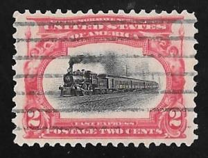 #295 2 cents Express Stamp used VF