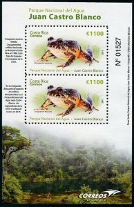 HERRICKSTAMP NEW ISSUES COSTA RICA Sc.# 688a National Parks 2017 - Frogs S/S