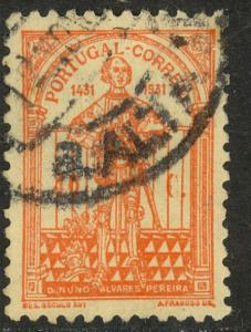 PORTUGAL 1931 40c Orange Nuno Alvares Pereira Issue Sc 536 VFU