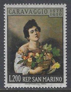 San Marino, Scott #472; 200l Boy with Basket of Fruit, MLH
