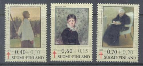 Finland Sc B203-5 1975 Paintings TB  stamps mint NH