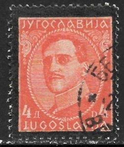 YUGOSLAVIA 1934 4d King Alexander Memorial Issue Sc 110 VFU