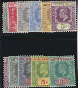 Northern Nigeria 1910-1911 SC 28-38 Mint set